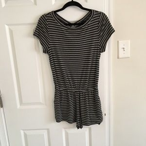 Urban Outfitters Black & White Striped Romper